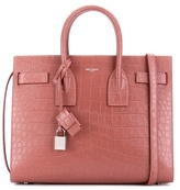 Saint Laurent Sac De Jour Small Embossed Leather Tote
