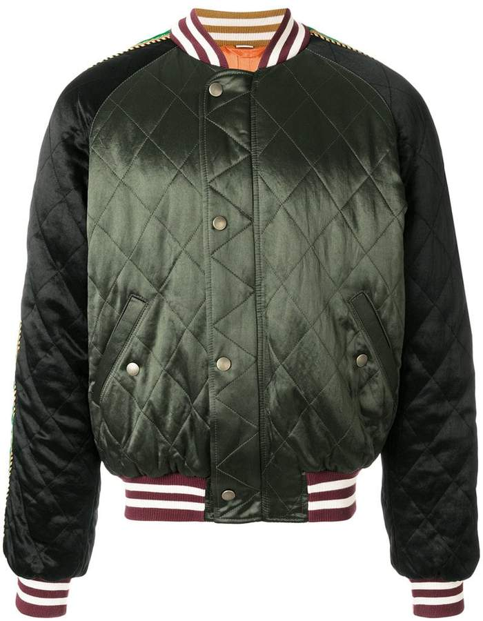 Gucci UFO embroidered bomber jacket