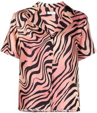Sandro Zebra Print Silk Shirt