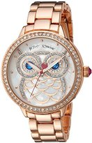 Betsey Johnson Women's Quartz Metal and Alloy Casual Watch, Color:Rose Gold-Toned (Model: BJ00616-01)