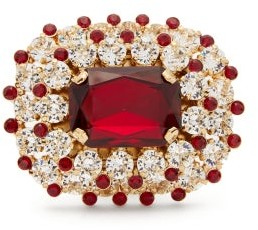 Dolce & Gabbana Crystal-embellished Ring - Womens - Red