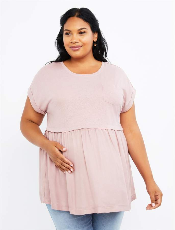 e9fa813f81392 Maternity Babydoll Top - ShopStyle