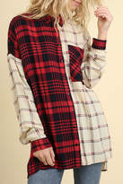 Umgee USA Red & White Flannel