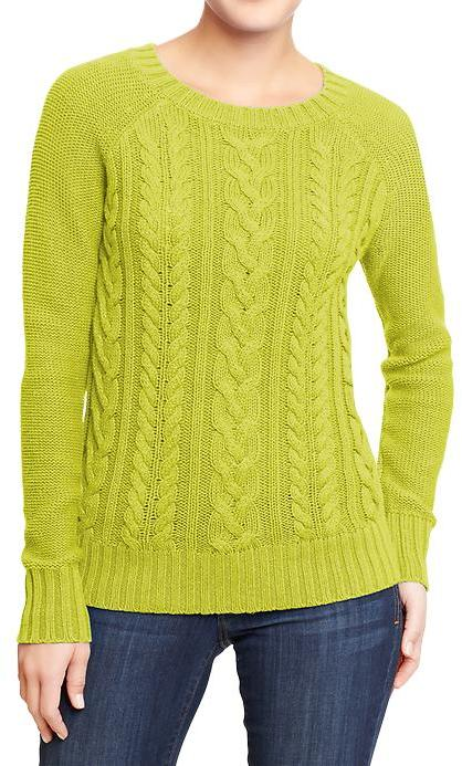 Old Navy Women's Cable-Knit Crew Sweaters