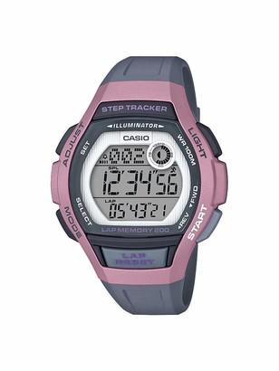 Casio Women's Runner Quartz Running Watch with Resin Strap Black 19.3 (Model: LWS-2000H-4AVCF)