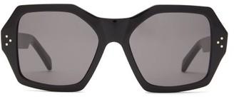 Celine Angular Acetate Sunglasses - Black