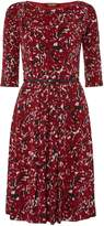 Max Mara Ghiotto jersey print belted dress