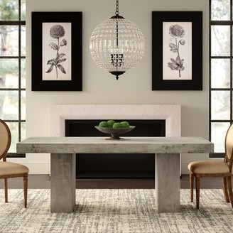 "Urbia Elcor Dining Table Color: Dark Gray, Size: 47"" W x 30"" H x 95"" D"