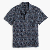 Short-sleeve Camp-collar Shirt In Paisley