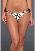Vix Swimwear Vix - Barbados Tie Side Ripple Brazilian Bottom (Black) - Apparel