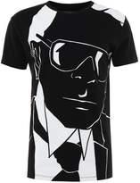 Karl Lagerfeld Print Tshirt Black