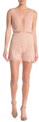 Love by Design Sleeveless Lace Romper
