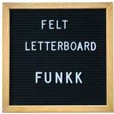 FUNKK Letters Felt Message Board 25.4x25.4cm