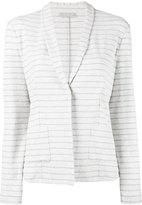 Le Tricot Perugia striped blazer - women - Cotton/Polyamide/Polyester/Spandex/Elastane - XL