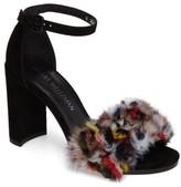 Stuart Weitzman Women's Icelandia Genuine Mink Fur Sandal