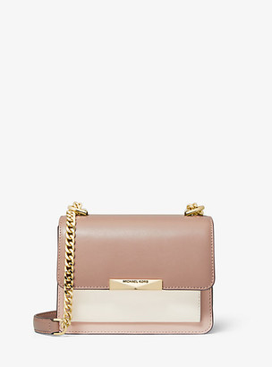 Michael Kors Jade Extra-Small Tri-Color Leather Crossbody Bag