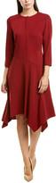Lafayette 148 New York Narissa Wool-Blend A-Line Dress