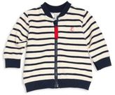 Petit Bateau Baby's Striped Zip-Front Cardigan