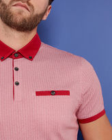 ROKIT Geo print cotton polo shirt