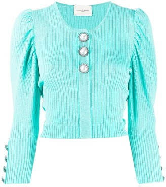 Giuseppe di Morabito Cropped Puff-Shoulder Jumper