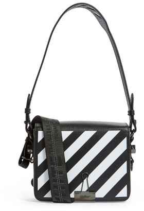 Off-White Leather Diagonals Cross Body Bag