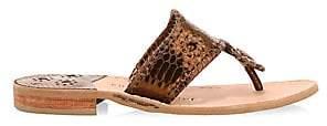 Jack Rogers Women's Jacks Snake-Embossed Leather Thong Sandals