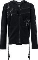 Faith Connexion pin embellished stars hoodie - women - Cotton - M