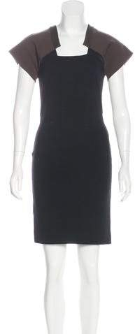 Givenchy Wool Knee-Length Dress