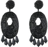Kenneth Jay Lane Oval w/ Drops Round Top Earrings