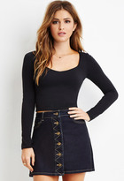 Forever 21 V-Neck Crop Top