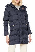 Thumbnail for your product : Brave Soul Hoplong Womens Hood Padded Jacket - Navy Blue - UK 22