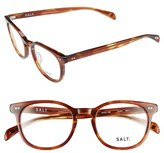 Salt Women's 'Quint' 51Mm Optical Glasses - Black Oak / Oak