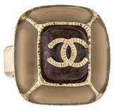 Chanel Enamel CC Cocktail Ring