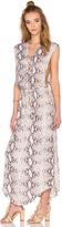 Indah Pamela Lace Up Maxi Dress