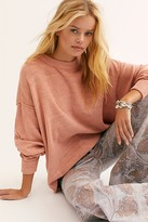 We The Free Cosmos Veg Dye Pullover by at Free People, Sand, XS
