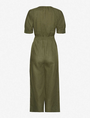 Whistles Nora cropped linen jumpsuit