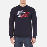 Billionaire Boys Club Script Embroidered Sweatshirt Navy