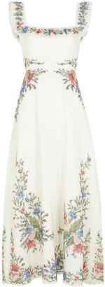 Zimmermann Juliette embroidered linen midi dress