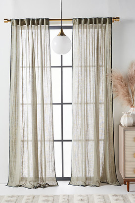 Anthropologie Audie Curtain By in Green Size 50X63