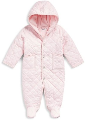 Ralph Lauren Baby Girl's Hooded Quilted Coverall