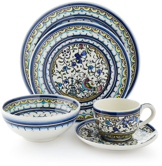 Neiman Marcus Pavoes Blue and Green 20-Piece Dinnerware Service