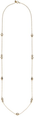 Anna Beck 18K Gold Plated Sterling Silver Smooth Pyrite & Mother of Pearl Station Necklace