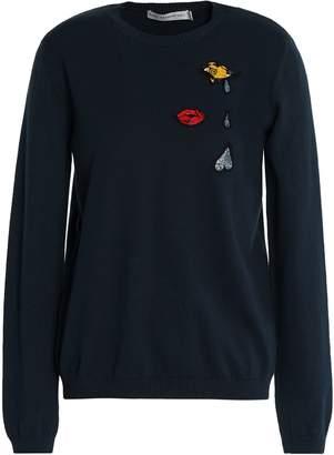Mary Katrantzou Rummy Cutout Appliqued Cotton Sweater