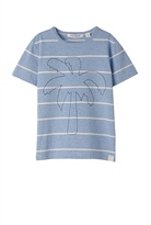 Country Road Palm Embroidered Stripe T-Shirt