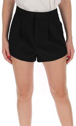Saint Laurent Pleated Tuxedo Shorts