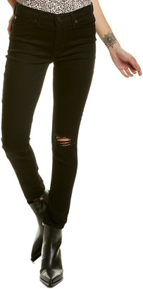 Hudson Natalie Mid-Rise Destroyed Black Raven Ankle Cut Super Skinny Jean