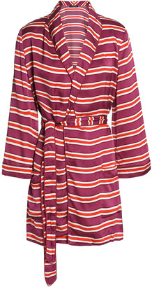 LOVE Stories Ritz Striped Brushed-jersey Robe