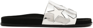 Stella McCartney Star Metallic Faux Leather Slides