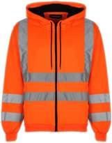 Standsafe Mens Hoodie Hi Vis Visibility Safety Hooded Zip Sweatshirt Work Jacket Top EN482
