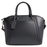 BP Junior Women's Textured Faux Leather Satchel - Black